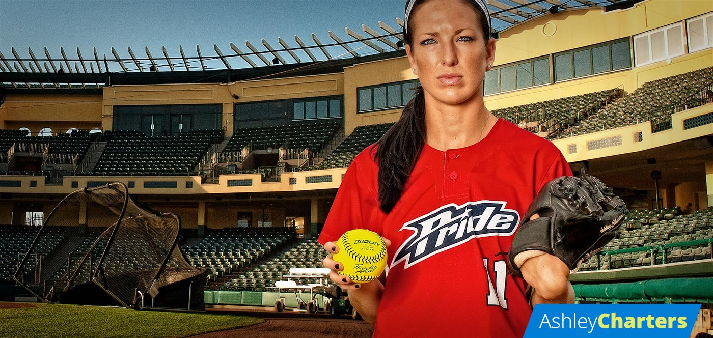 Ashley Charters Softball Player and Dudley® Sports Pro Team Member
