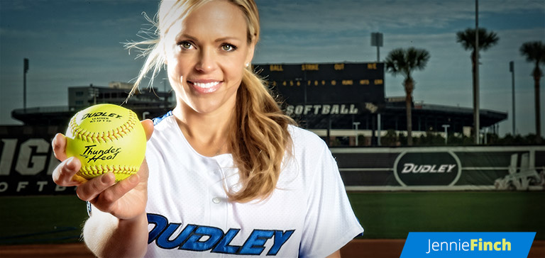 Jennie Finch Softball Player and Dudley® Sports Pro Team Member