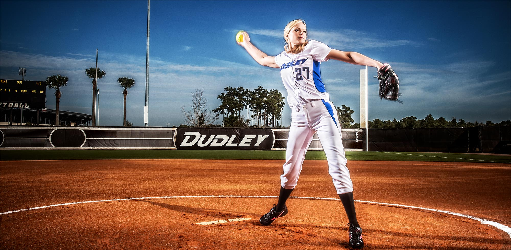 Professional Softball Player and Dudely Sports Athlete Jenny Finch Pitching her Famous Fast Ball