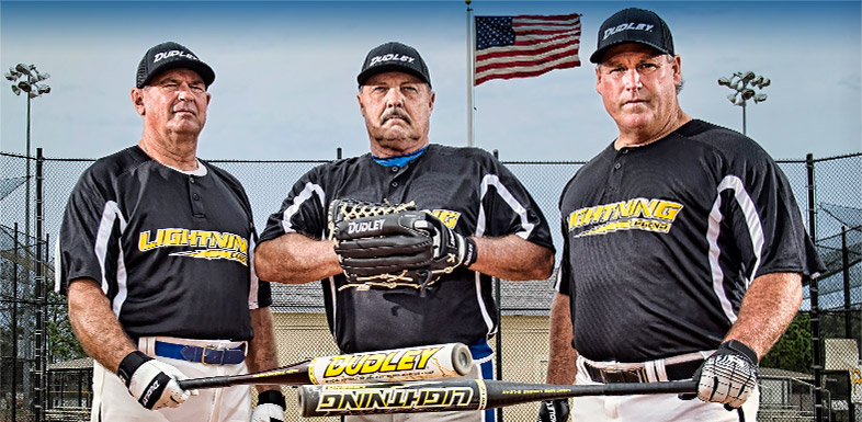 Legends Softball Player and Dudely Sports Athletes Hank Garris, Bobby Davis and Davey Reed