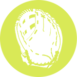 softball fielding gloves icon
