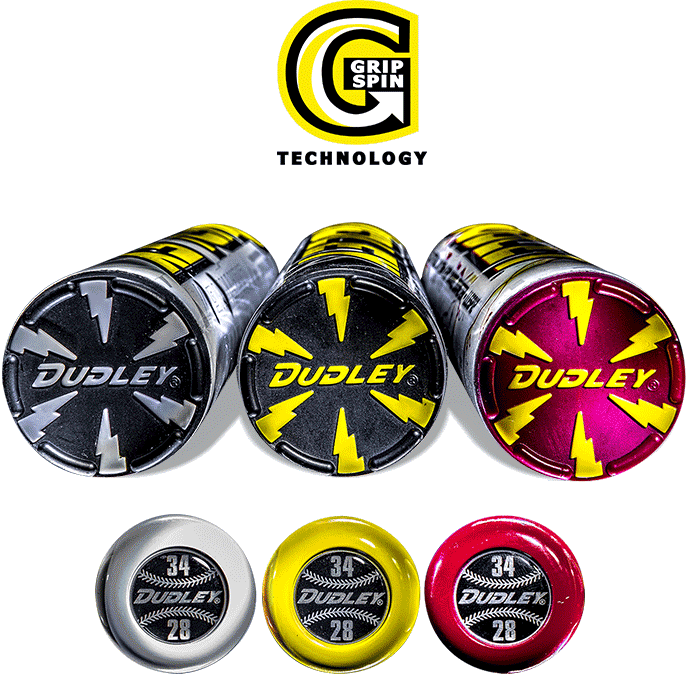 Dudley® Sports Grip Spin™ Technology for softball bats